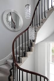 elegant mahogany handrail and stairs architect studio loop