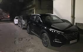 hyundai tucson hyundai tucson 2 0l crdi gls thunder black boom shankar team bhp