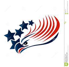Eagles Flag Bald Eagle American Flag Logo Stock Vector Illustration Of