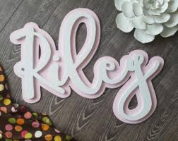 gold dipped name sign wooden names letters for nursery
