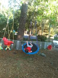 Trampoline Backyard Trampo Swing Tarzan Swing U0026 Backyard Play Environment Epic