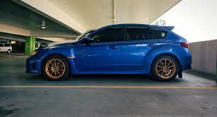 bronze subaru wrx wrb and bronze gold subaru