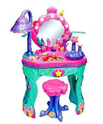 Disney Princess Vanity And Stool Amazon Com Disney Princess Ariel Little Mermaid Magical Talking