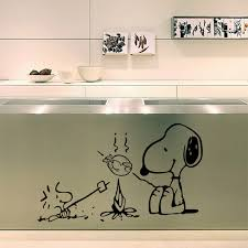 cute sayings for home decor cute dog at the barbecue removable vinyl kitchen decor wall