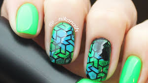 green nails short stamping nail art easy nail art design for