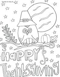 happy thanksgiving banner coloring pages doodle alley orig
