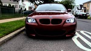 bmw m5 slammed my e60 indianapolis red m5 w blacked out headlights and orion v2