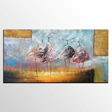 Dining Room Wall Art by Abstract Painting Original Wall Art Ballet Dancer Painting