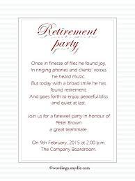 retirement invitation wording retirement invitation template 7or k