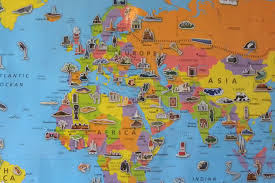 European Continent Map by Map Of The World For Kids World Map For Kids Continent Map Of