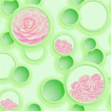 wallpaper bunga lingkaran jual wallpaper dinding lingkaran bunga eksklusif di lapak wallpaper