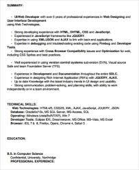 Ui Developer Resume Format Sample Front End Developer Resume 7 Examples In Word Pdf