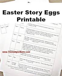 easter resurrection eggs this simple home easter story eggs printable