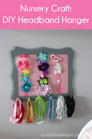how to make a headband holder brielle s nursery diy headband holder spot of tea designs