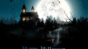 halloween background 1280x720 wallpaper halloween moon cemetery night pumpkin holidays 6025