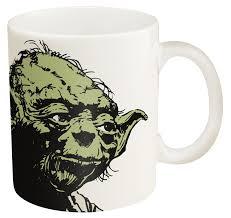 amazon com zak designs ceramic mug with star wars and yoda
