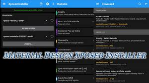 Framework Design by Material Design Xposed Installer Xposed Tuesdays Youtube