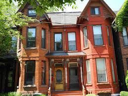 Three Story Houses by Historic Homes On Draper Street Historic Toronto