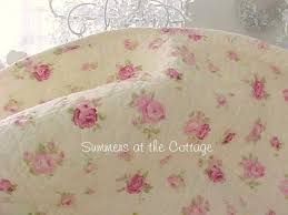 Shabby Chic Pillow Shams by Shabby Cottage Chic Pink Roses Rosebud Quilt U0026 Pillow Shams Butter