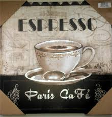 Paris Home Decor Accessories Coffee Theme Espresso Paris Cafe Bistro Canvas Pictures Home Decor