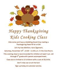 happy thanksgiving cooking class muscatine community school
