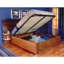 Platform Queen Bed With Storage Queen Bed Lift With Platform End Opening Rockler Woodworking