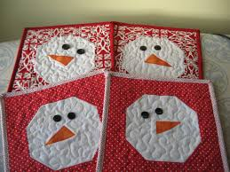 Mug Rug Designs Not So Plain Jane Snowman Mug Rug Tutorial