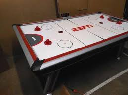 84 air hockey table lso auctions lot a506 working sportcraft espn air hockey table