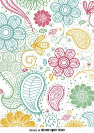 paisley pattern vector colorful paisley pattern vector download