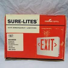 sure lites emergency lights cooper lighting sure lites exit emergency lighting exit sign self