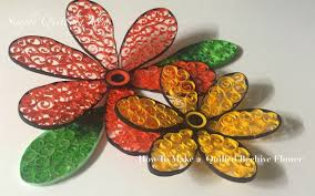 art and craft diy how to make quilled beehive flower beautiful