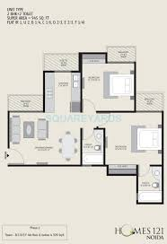 3 bhk 1890 sq ft apartment for sale in homes 121 at rs 5625 0 sq 3 bhk 1890 sq ft apartment floor plan