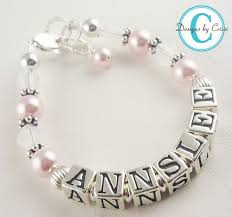 infant name bracelet 109 best jewelry images on jewelry vintage pearls and