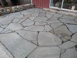 Irregular Stone Patio Irregular Bluestone Patio Stone In The Landscape Pinterest