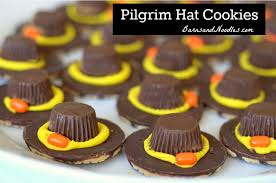 pilgrim hat cookies thanksgiving feast