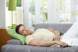 Sofa Control Goodlooking Man In Causal Wear Sleeping On Sofa With Remote