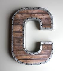 metal letters faux reclaimed wood letters gallery wall reclaimed wood letters