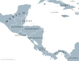 Blank Latin America Map by Political Map Of Central America And The Caribbean Nations