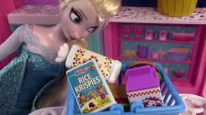 barbie makeup games disney frozen queen elsa pretzel shopkins