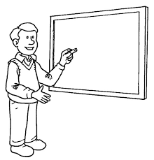 professor teach his student on jobs coloring pages batch coloring