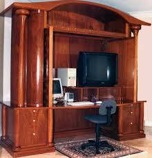 Computer Armoire With Pocket Doors Excellent Computer Desk Armoire To Home Decor Furniture