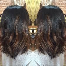partial red highlights on dark brown hair diy balayage on short black hair google search hair ideas