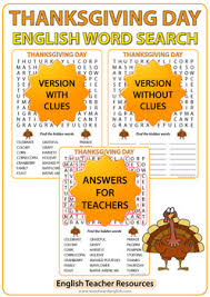 thanksgiving word search in by education tpt