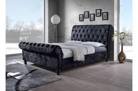 Upholstered Sleigh Bed King Black Upholstered Bed King Med Art Home Design Posters