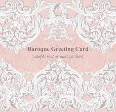 baroque greeting card acanthus ornament texture vector templates