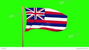 Waving Flag Artist Hawaii Flag Waving In The Wind Green Screen Alpha Matte