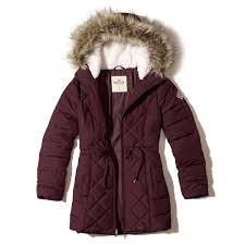 Hollister Clothes For Girls Hollister Nylon Puffer Parka In Blue Lyst