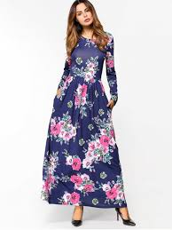 sleeve maxi dress floral print sleeve maxi dress blue maxi dresses xl zaful