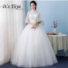 compare prices on ball gown wedding dress half sleeve online