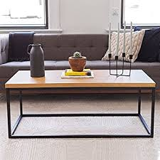 safavieh alec coffee table medium oak amazon com safavieh american home collection alec distressed red